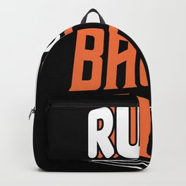 Rub some Bacon on it funny shirt motif Backpack