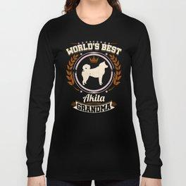 World's Best Akita Grandma Long Sleeve T-shirt