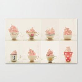 Sweet Pink Meringues  Canvas Print