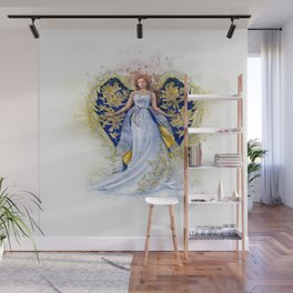 Floral Angel Wall Mural