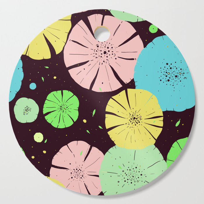 Water Lily Cutting Board