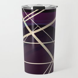 Crossroads - purple graphic Travel Mug