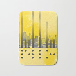 Yellow Abstract Passion Bath Mat