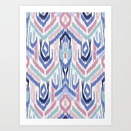 Ikat Ikat Pastel Wandering Art Print