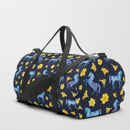 Precious blue horses Duffle Bag
