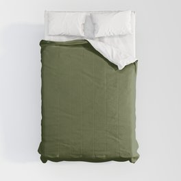 Dark Olive Green Solid Color Pairs To Sherwin Williams Inverness SW 6433 Comforters