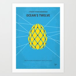 No057 My Oceans 12 minimal movie poster Art Print