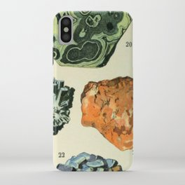Vintage Minerals Chart iPhone Case