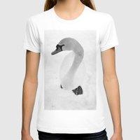 swan T-shirts featuring swan by Richard PJ Lambert