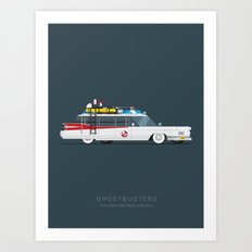 Ghostbusters  | Famous Cars Art Print
