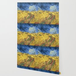 Wheatfield with Crows by Vincent van Gogh Wallpaper