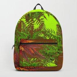 DECORATIVE GOLDEN BROWN FERN GARDEN ART Backpack