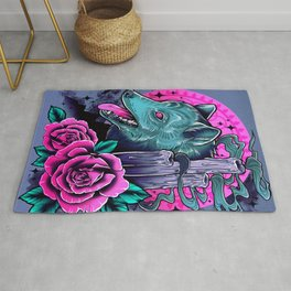 Wolf Candles Rug