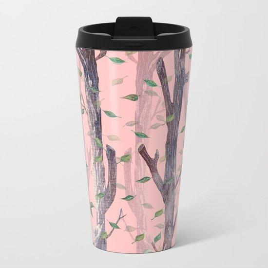 Forest Pink Metal Travel Mug