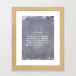 Bil Keane quote 2 Framed Art Print