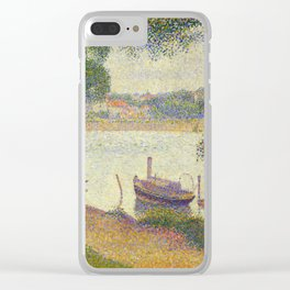 """Georges Seurat """"Gray weather, Grande Jatte"""" Clear iPhone Case"""