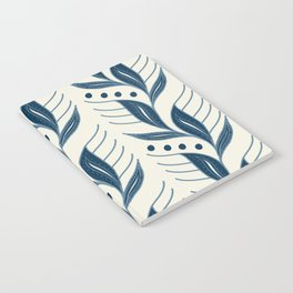 Indigo Leaves #society6 #pattern #indigo Notebook