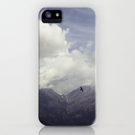 clouds over mountains iPhone Case