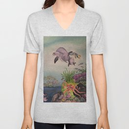 Journey Under the Sea by Maureen Donovan Unisex V-Neck