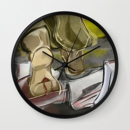 He is Not Here Wall Clock