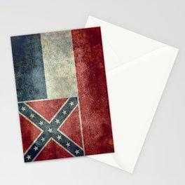 Mississippi Flag, Worn Retro Style Stationery Cards