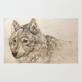 The Gray Wolf's Gaze Rug