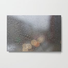 Rainy window Metal Print