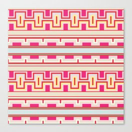 Aztec tribal style pattern Canvas Print
