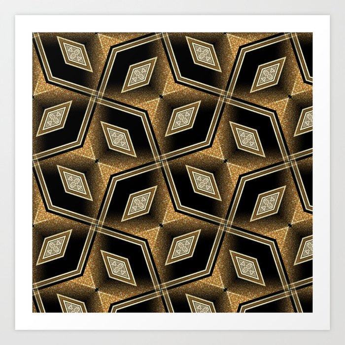 Earthman | Geometric Diamonds Art Print