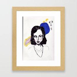 Blue Bubble  Framed Art Print