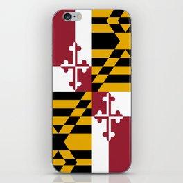 Maryland State Flag, Hi Def image iPhone Skin