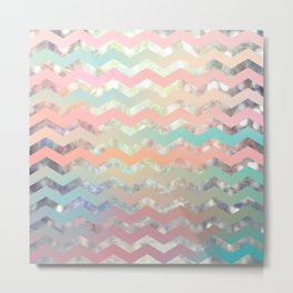 New World Chevron Pastel Metal Print