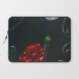Notturno su papaveri Laptop Sleeve