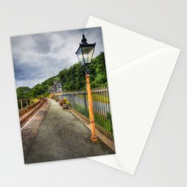 Waiting For The Train Stationery Cards