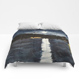 full moon by the sea Comforters