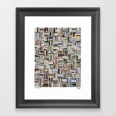Map and Guide Framed Art Print