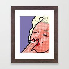 Pop Icons - Marilyn Framed Art Print