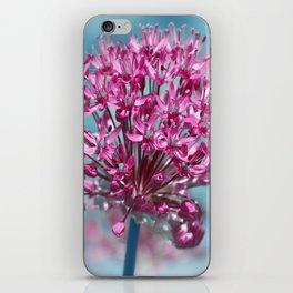 Allium pink iPhone Skin