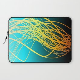Linear Flow-Blue Gold Laptop Sleeve