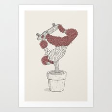 Handplant Art Print
