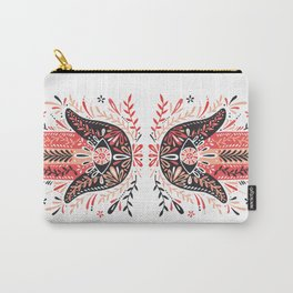 Hamsa Hand – Red & Black Palette Carry-All Pouch