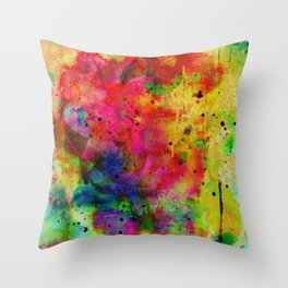 colorful abstract bouquet Throw Pillow