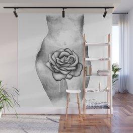 Sensual Rose b&w Wall Mural