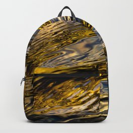 River Ripples in Copper Gold and Brown Backpack