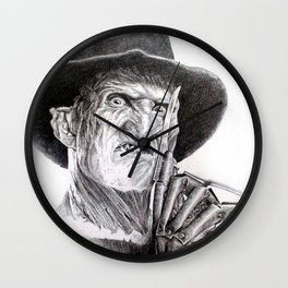 Freddy krueger nightmare on elm street Wall Clock