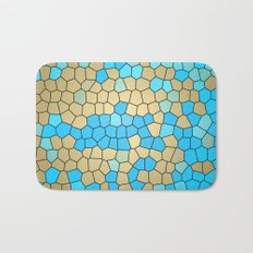 Turquoise and Gold Mosaic Bath Mat