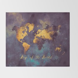 world map 2 2020 #map #travel Throw Blanket