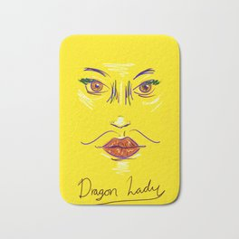 Dragon Lady in Daisy Yellow Bath Mat