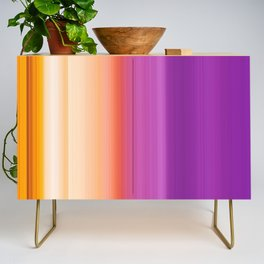 Abstract mixed stripes Gradient Warm Credenza