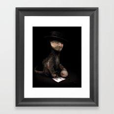 Charles the cat Framed Art Print